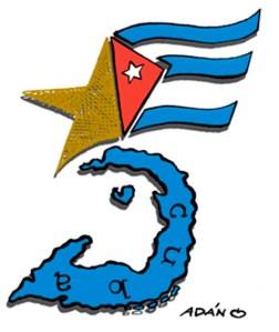 Adán Iglesias también comparte con nosotros esta caricatura para Gerardo y sus hermanos presos injustamente.